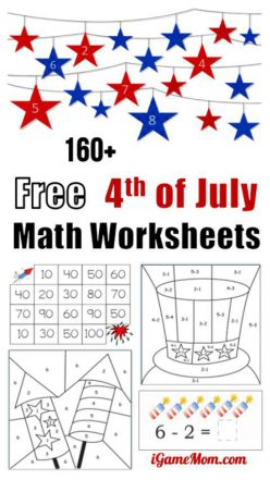 Simple Multiplication For 4th Of July: Firecrackers