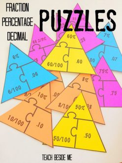 Fractions And Decimals: Lock And Key