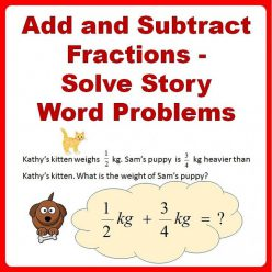 Adding With Unlike Denominators Word Problem