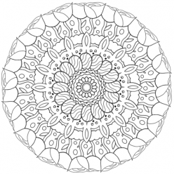 Color A Spring Mandala