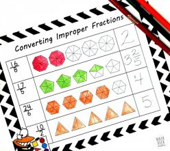 Introduction To Improper Fractions #1