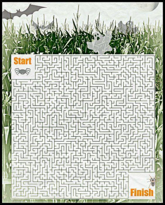 Free Halloween Corn Maze Printable Puzzle With Images