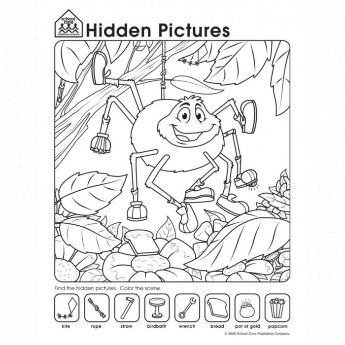 Free Hidden Pictures Worksheets Playfully Challenge Kids To Take A