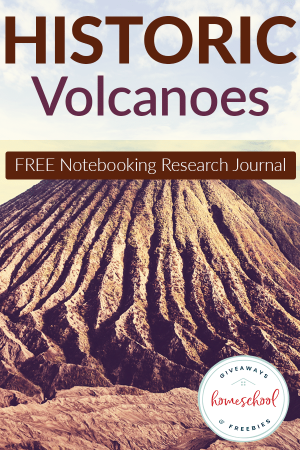 Free Historic Volcanoes Notebooking Research Journal With Images