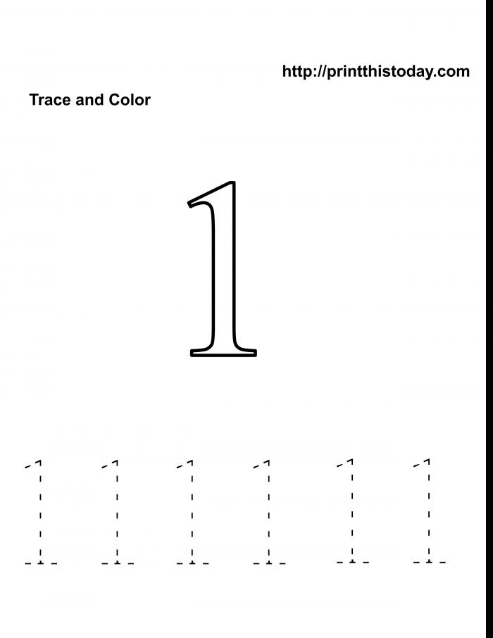 Free Kindergarten Math Worksheets Number One