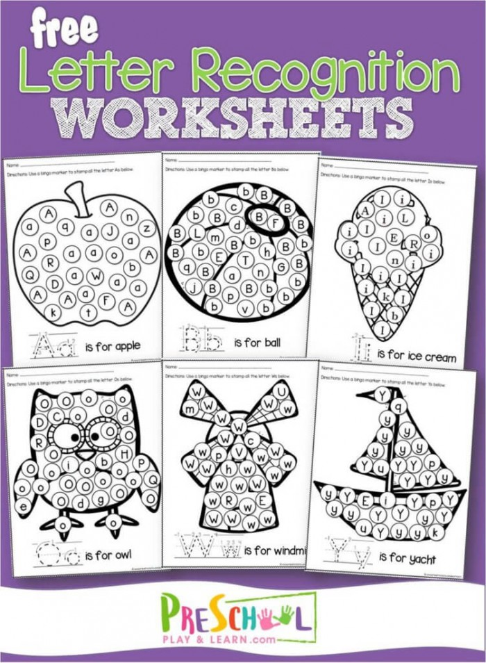 Free Letter Recognition Worksheets A To Z