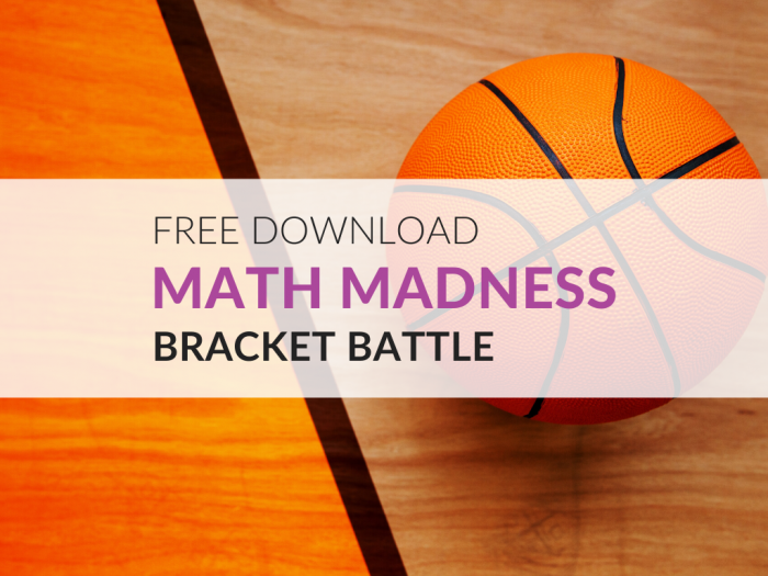 Free March Madness Math Worksheets  Grades