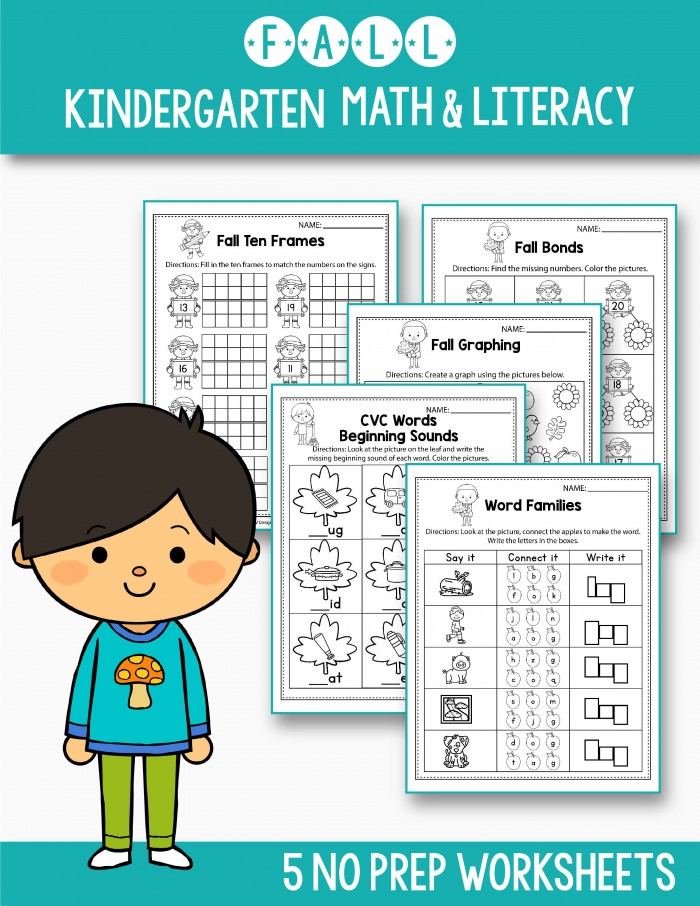 Free Math   Literacy Worksheets That Will Fit Your Preschool