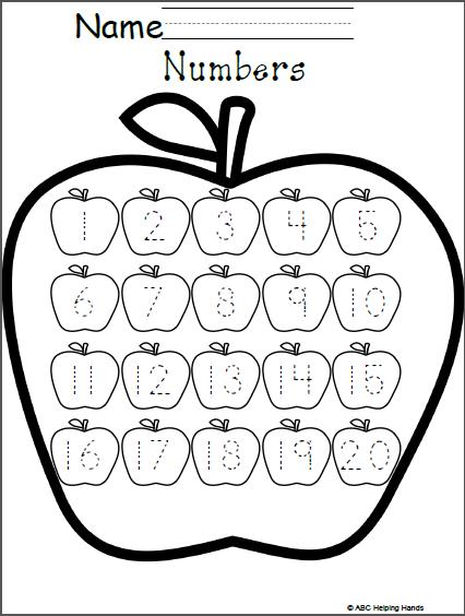 Free Numbers Worksheet