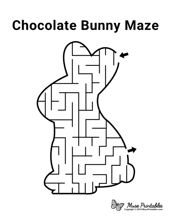 Free Printable Chocolate Bunny Maze