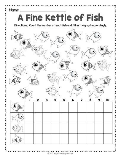 Free Printable Fish Count And Graph Worksheet