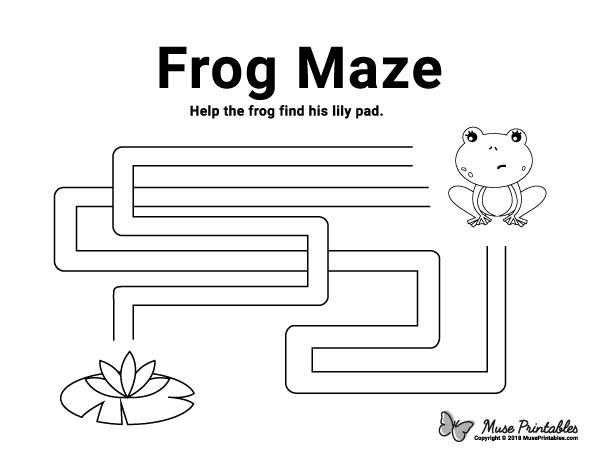 Free Printable Frog Maze