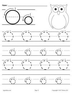 Letter O Tracing Practice