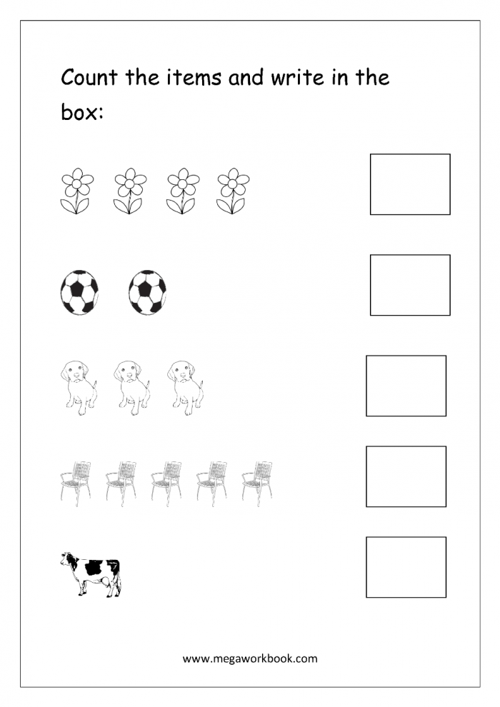 Free Printable Number Counting Worksheets