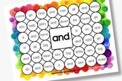 Sight Word Memory Match IV