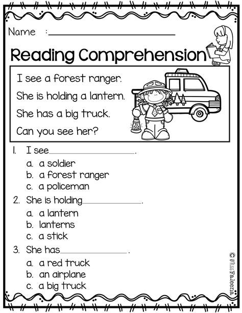 Free Reading Comprehension
