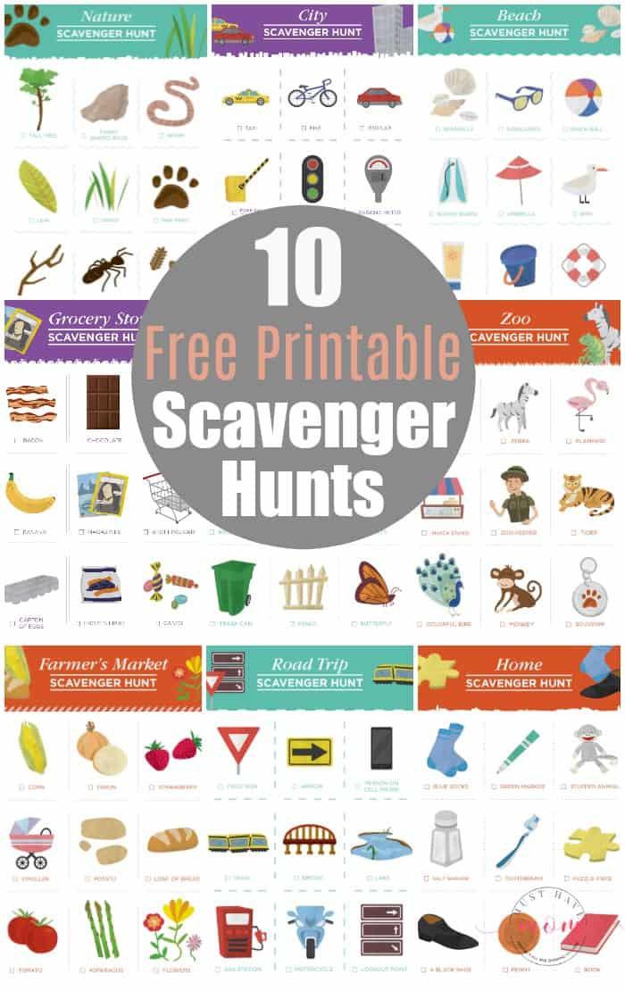 Free Scavenger Hunt Printables For Kids