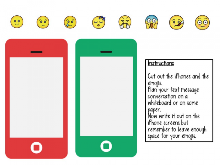 French Worksheetactivity Saying How You Feel  Emojis With