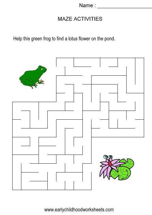 Frog To Lily Pad Maze Kids Activity  Visual Skills  Hand