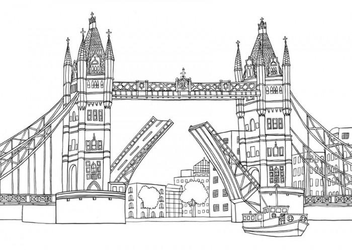 Get The Coloring Page London Bridge