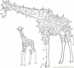 Giraffe Dot To Dot