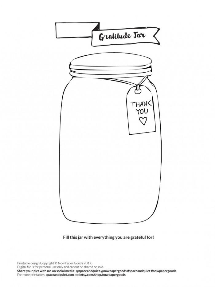 Gratitude Jar Exercise Worksheet Bullet Journal Buju With Images