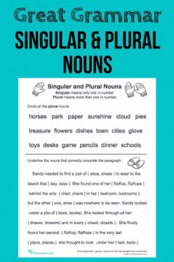 Great Grammar: Singular And Plural Nouns