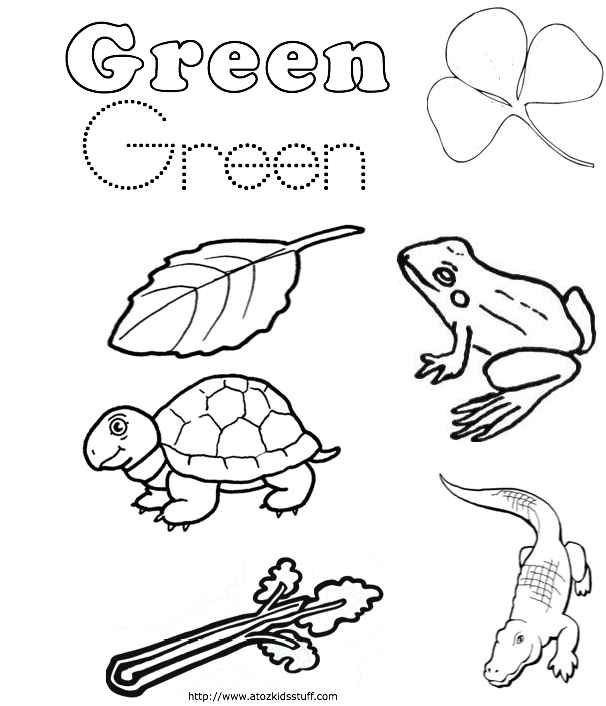 Green Color Word Work Sheet Coloring Pages For Kids With Images