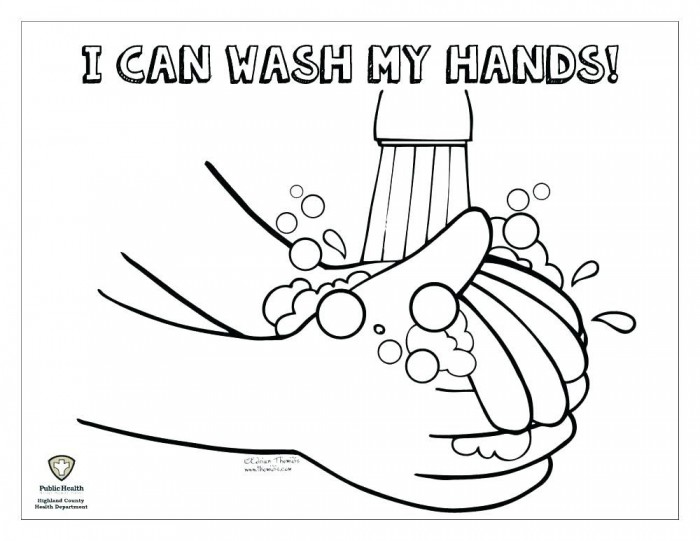 Helping Hands Coloring Page Praying Hands Coloring Page Washing