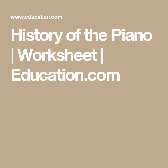 History Of The Piano With Images