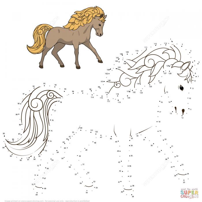 Horse Dot To Dot