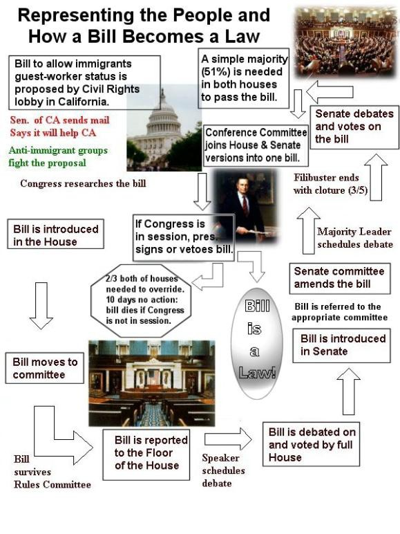 How A Bill Becomes A Law Powerpoint Worksheet