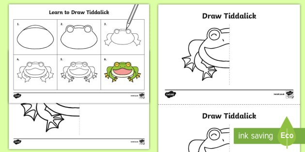 How To Draw Tiddalick The Frog Worksheet  Worksheet