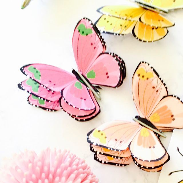 How To Make A D Paper Butterfly  Free Printable Butterfly