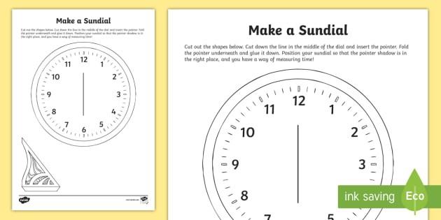 How To Make A Sundial Clock