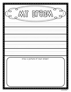 I Have A Dream Worksheet