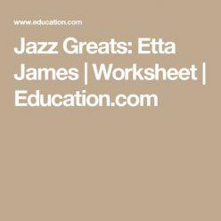 Jazz Greats: Etta James