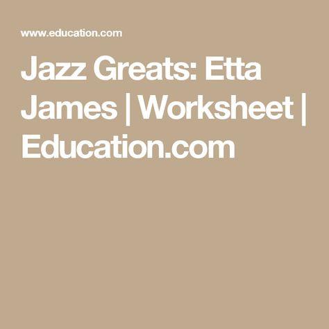 Jazz Greats Etta James