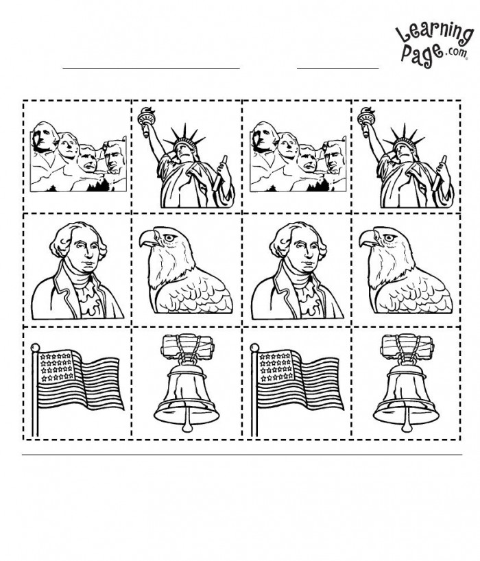 Kindergarten Geography America Worksheets