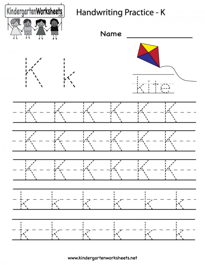 Writing The Letter K Worksheets 99Worksheets