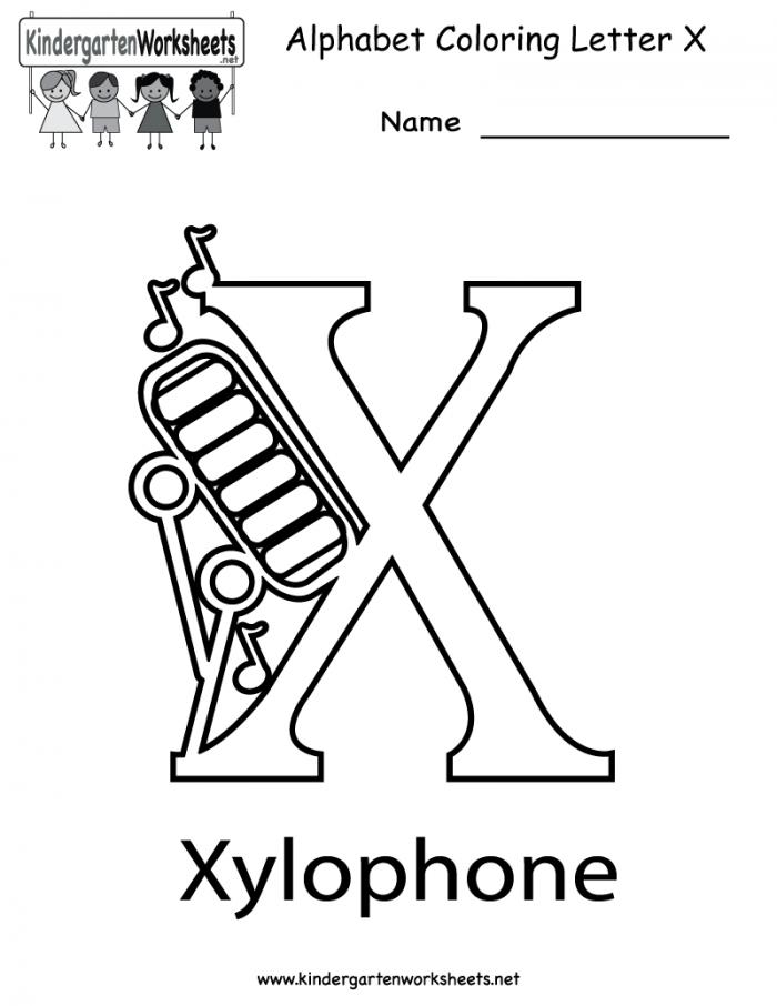Letter X Coloring Page Worksheets 99Worksheets