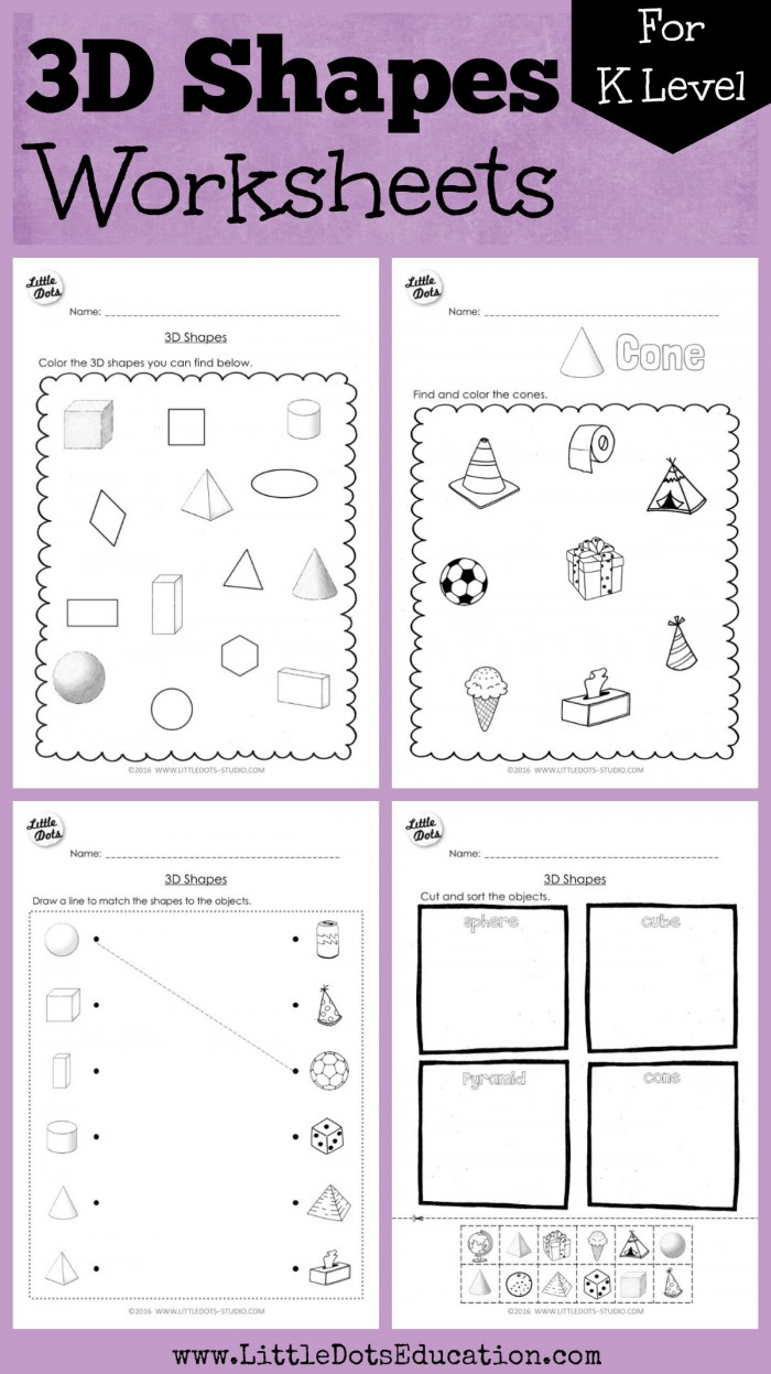 Kindergarten Math D Shapes Worksheets And Activities With Images