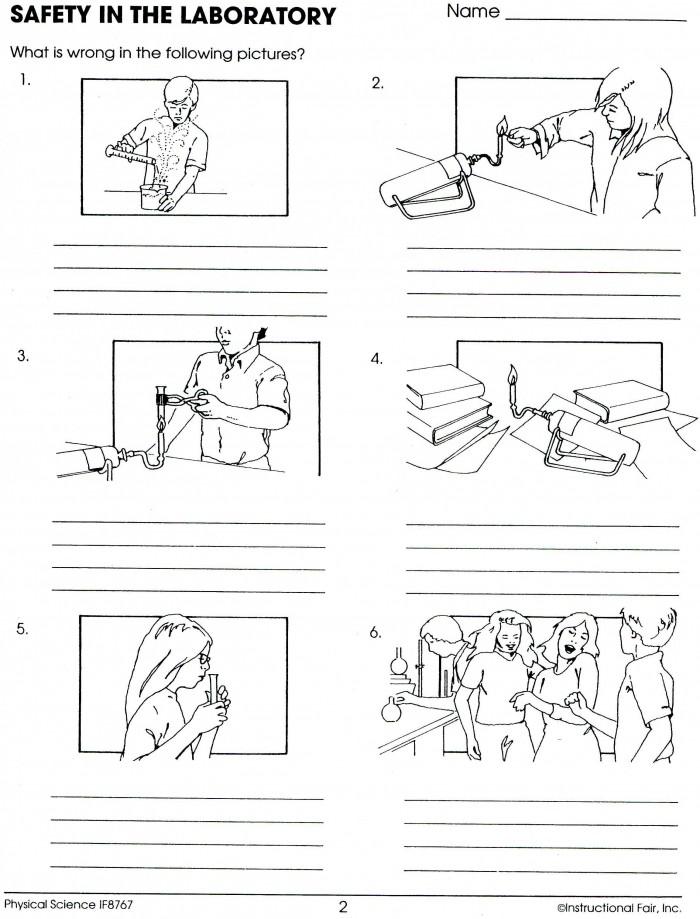Lab Safety Worksheets   99Worksheets