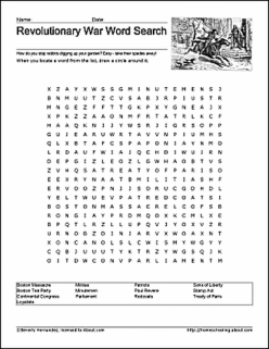 Revolutionary War Word Search