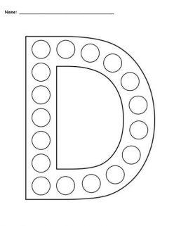 Dot-To-Dot Alphabet: D