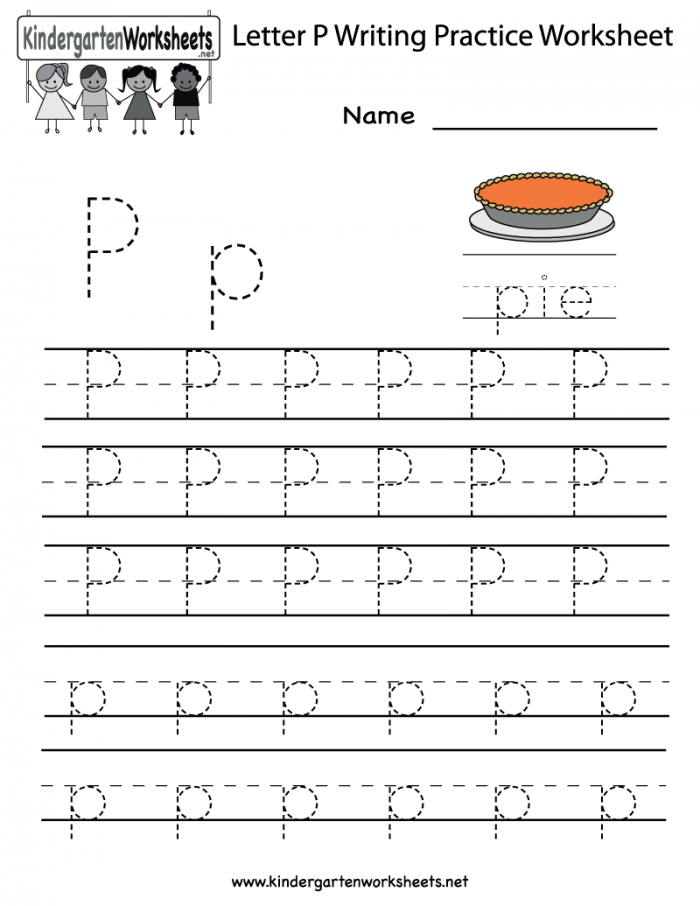 Practice Tracing The Letter P Worksheets 99Worksheets