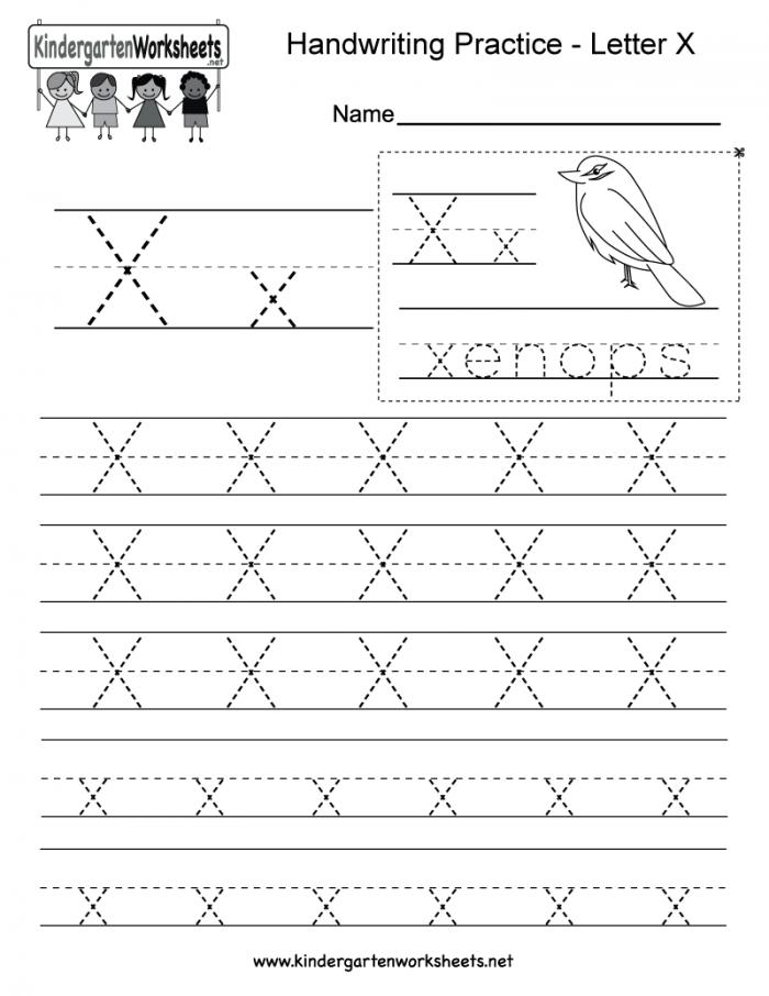 Letter X Handwriting Practice Worksheet This Series Of