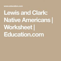 Lewis And Clark: Native Americans
