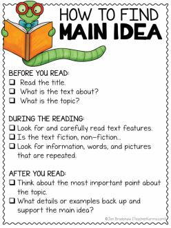 Finding The Topic And Main Idea Of A Nonfiction Text