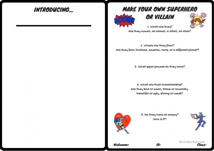 Make A Superhero Or A Villain